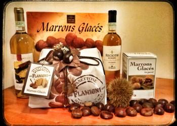 Panettone Flamigni ai marron glacé- Marron glacé in pezzi e ricoperti
